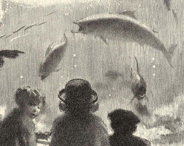 Aquarium - American Modern Print by Gordon Grant