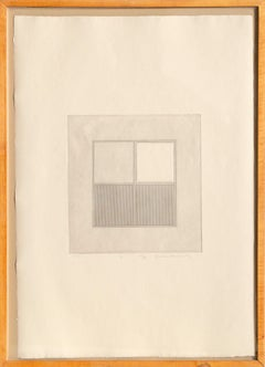 Arc 2, Minimalist Etching by Gordon House 1971