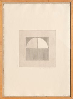 Arc 3, Minimalist Etching by Gordon House 1971