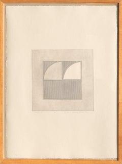 Arc 4, Minimalist Etching by Gordon House 1971
