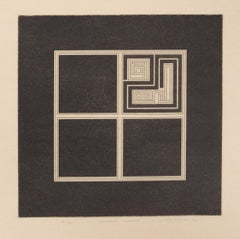 Common Event, Minimalist Etching by Gordon House 1970