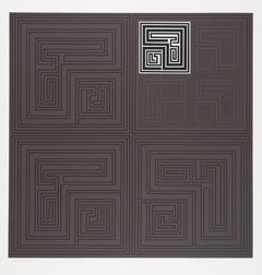 Gordon House, Black Matrices, geometric abstract screen print, 1967-68