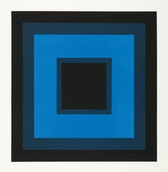 Gordon House, Blue, minimalist vintage limited edition screenprint, 1961