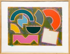Still Life at Millbank, Colorful Geometric Abstract by Gordon House