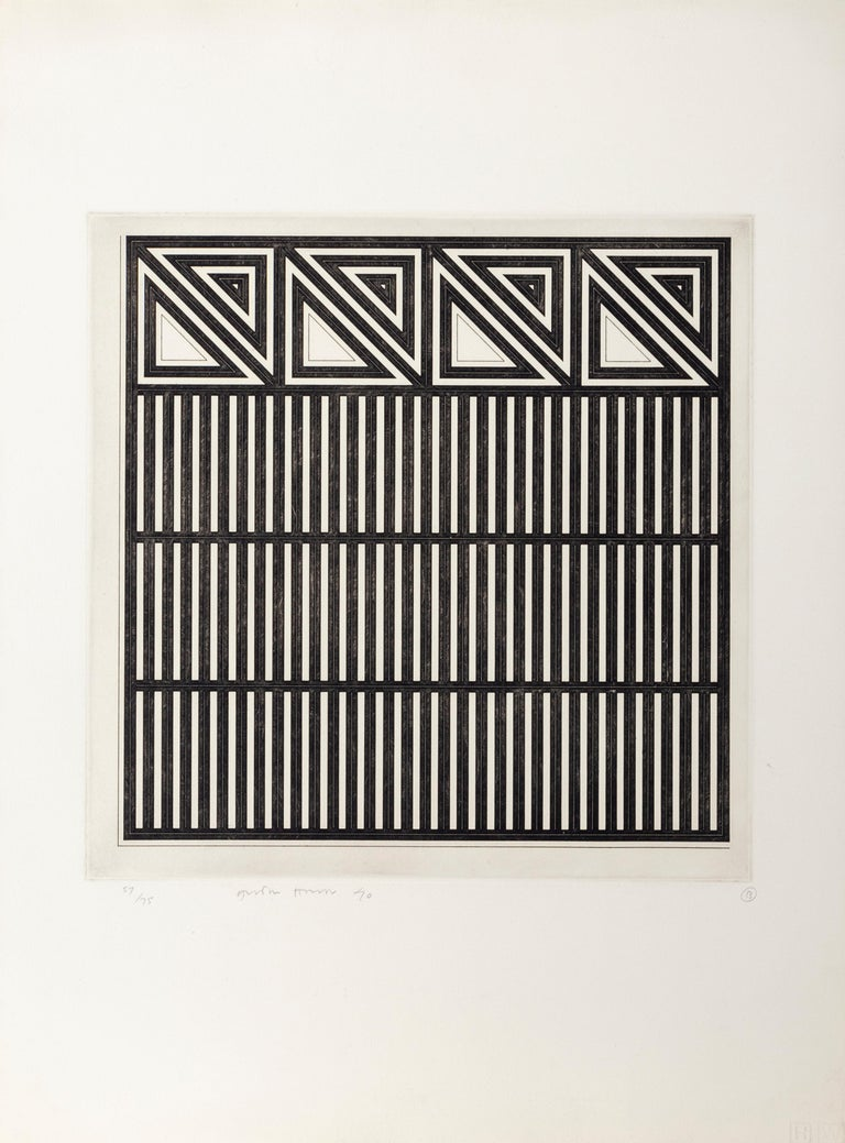 Untitled (B), Minimalist Etching by Gordon House 1970 For Sale 1