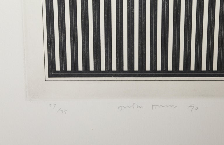 Untitled (B), Minimalist Etching by Gordon House 1970 For Sale 3