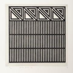 Untitled (B), Minimalist Etching by Gordon House 1970