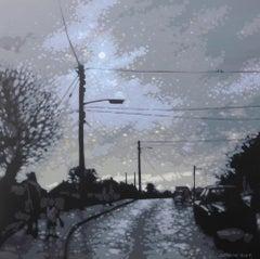 Gordon Hunt, Back to School Morning, Landscape Art, Contemporary Art