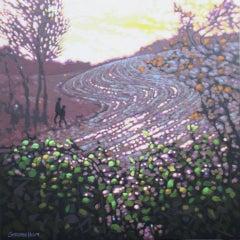 Gordon Hunt, Dog Walk Around the Muddy Field, Landscape Art, Affordable Art