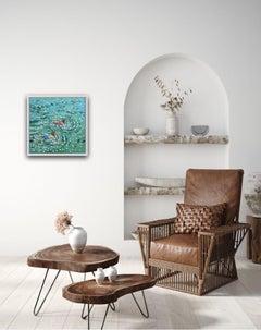 Gordon Hunt, In the swim, Affordable Art, Cornwall Art, Seascape Art, Art Online
