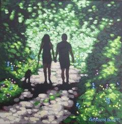 Gordon Hunt, Shady Lane, Affordable Art, Woodland Landscape Painting