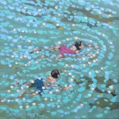Gordon Hunt, Summer Swim, Original Seascape Painting, Affordable Art