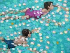Gordon Hunt, Swim Study - Turquoise, Original seascape oil painting
