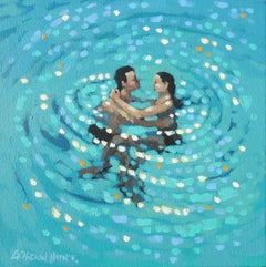 Gordon Hunt, Turquoise swirl, Contemporary Art, Seascape Art, Affordable Art