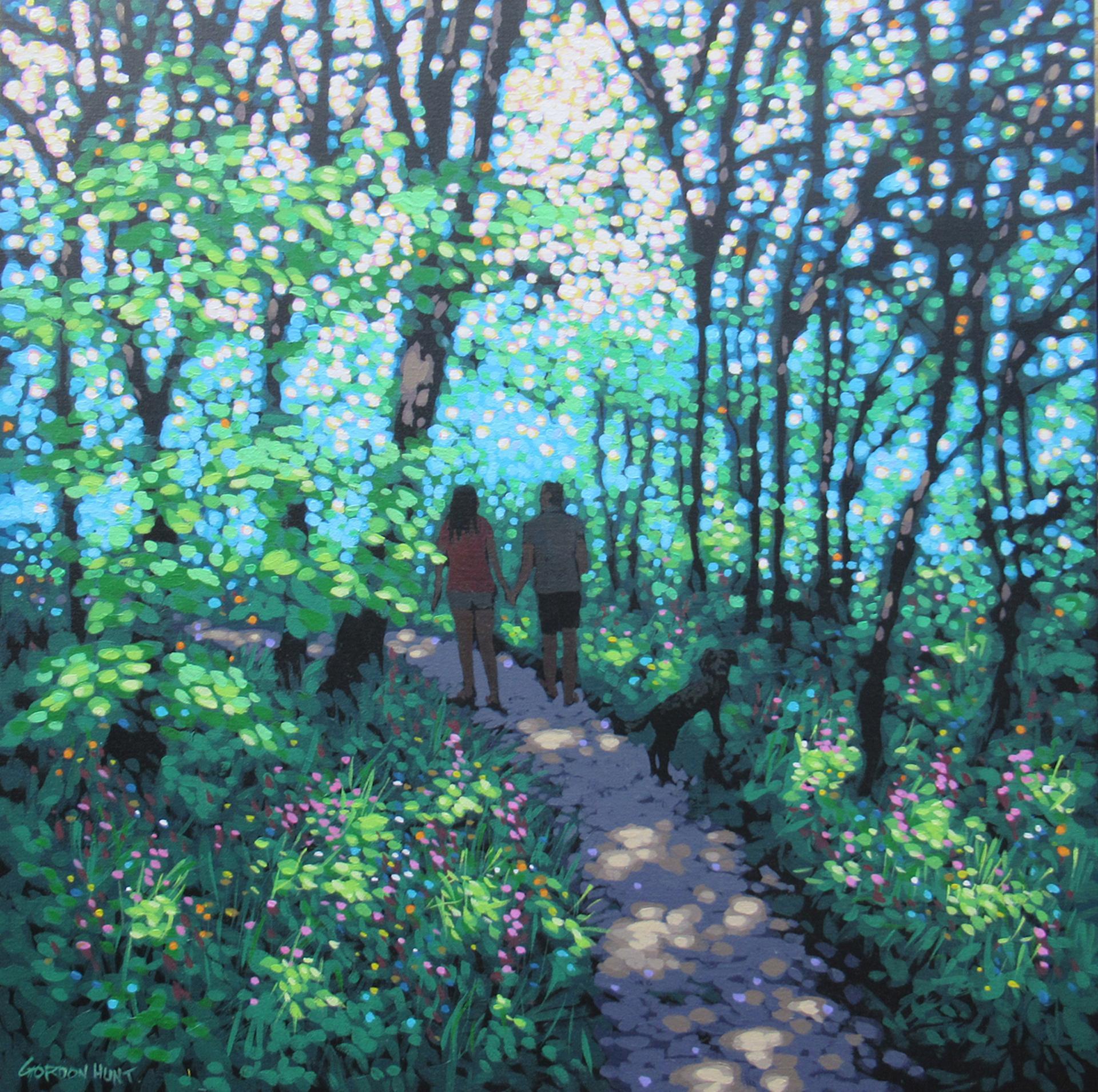 Gordon Hunt, Woodland Walk to the Beach, Landscape Art, Affordable Art
