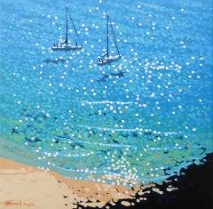 Gordon Hunt, Anchored Up, Seascape Print, Contemporary Impressionist Art