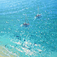 Gordon Hunt, Lantic Lunch, Limited Edition Seascape Print, Bright Art, Blue Art