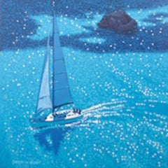Gordon Hunt, Sail on by Cornwall coast, Seascape Art, Sailing Art, Art Online