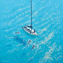 Gordon Hunt, Swim Stop. Cornish Art, Seascape Art, Affordable Art, Art Online
