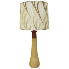 Gordon & Jane Martz Ceramic and Teak Table Lamp