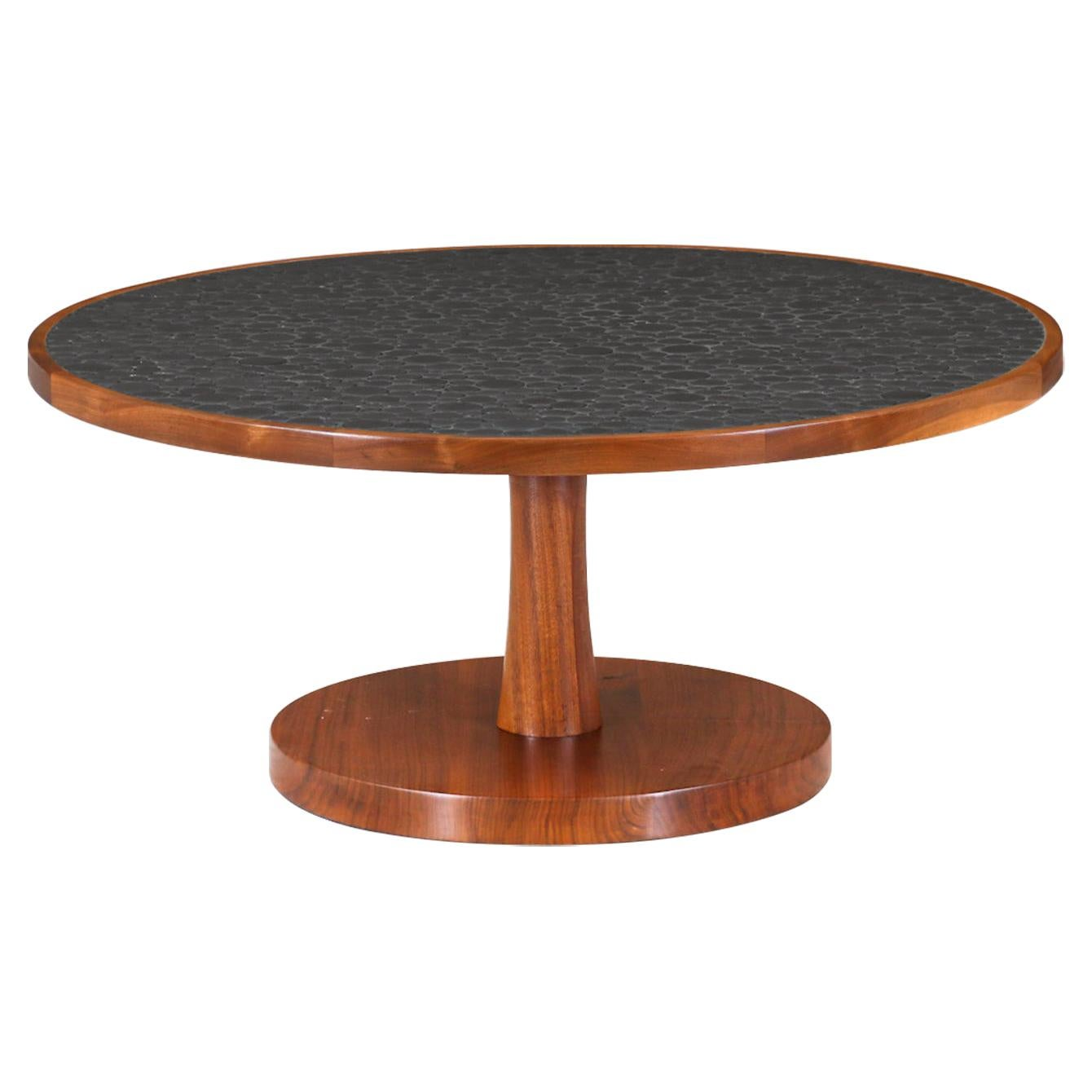 Gordon & Jane Martz Coffee Table with Ceramic Coin Inlay Top for Marshall Studio