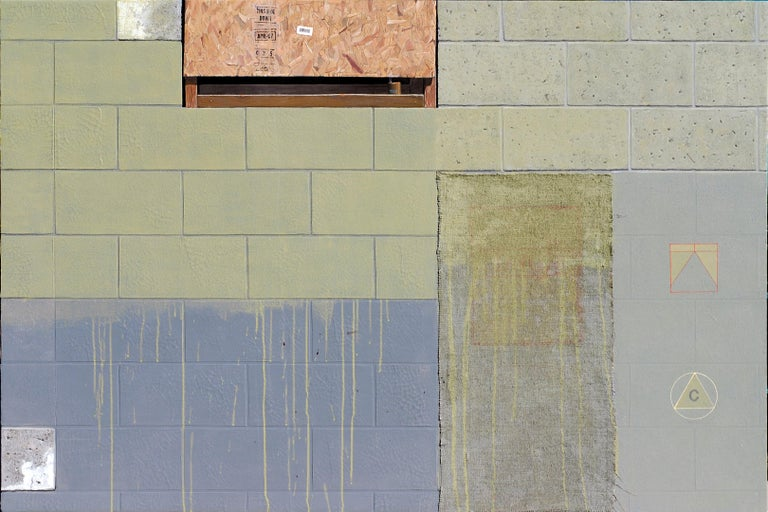 """green and blue, """"Urban Legend"""", (Photorealism, Mixed Media, Abstraction) - Mixed Media Art by Gordon Lee"""