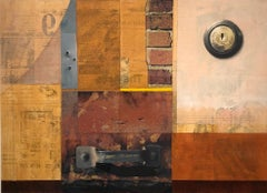 "mixed media on paper, ""Cleveland Avenue #2"" (Collage, Abstraction, Color Field)"