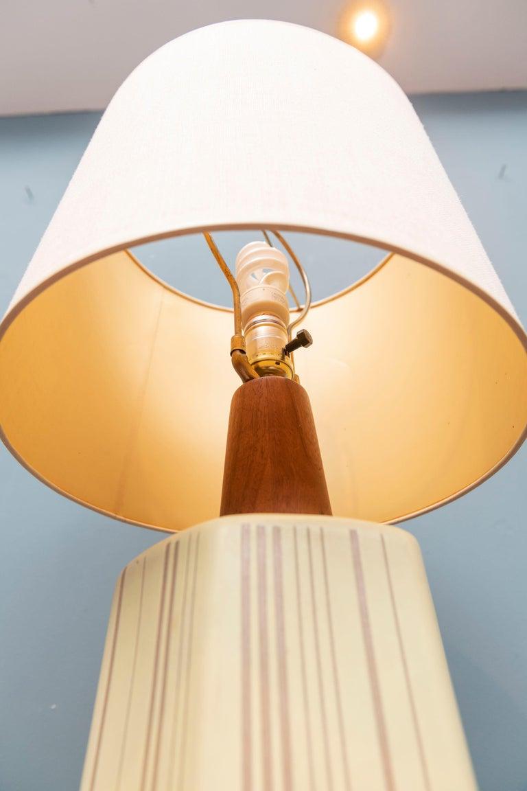 American Gordon Martz Ceramic Table Lamp For Sale
