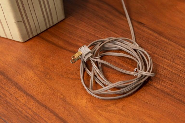 Gordon Martz Ceramic Table Lamp In Good Condition For Sale In San Francisco, CA