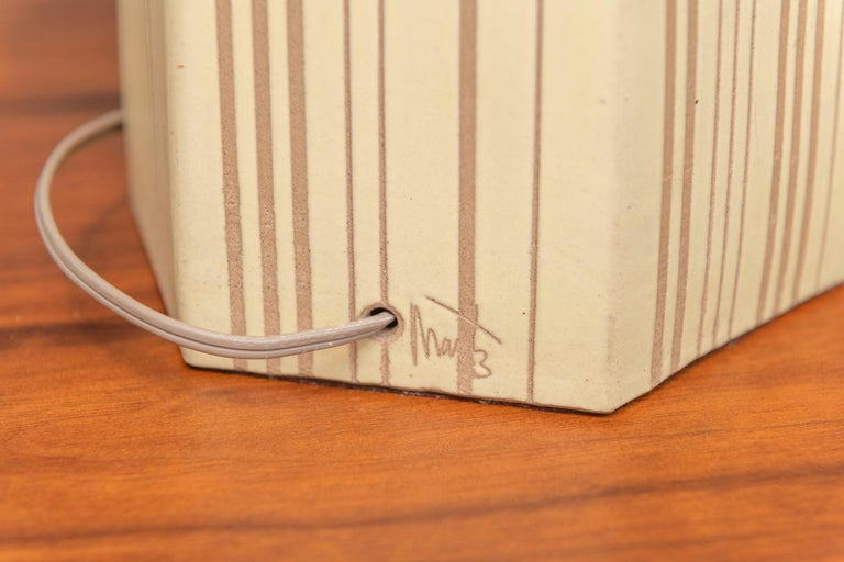 Mid-20th Century Gordon Martz Ceramic Table Lamp For Sale