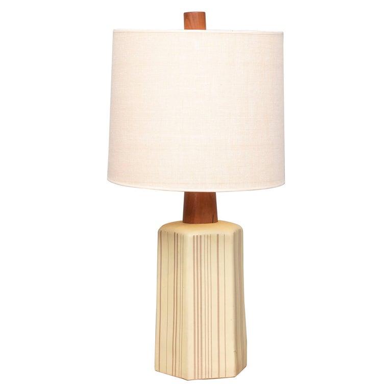 Gordon Martz Ceramic Table Lamp For Sale