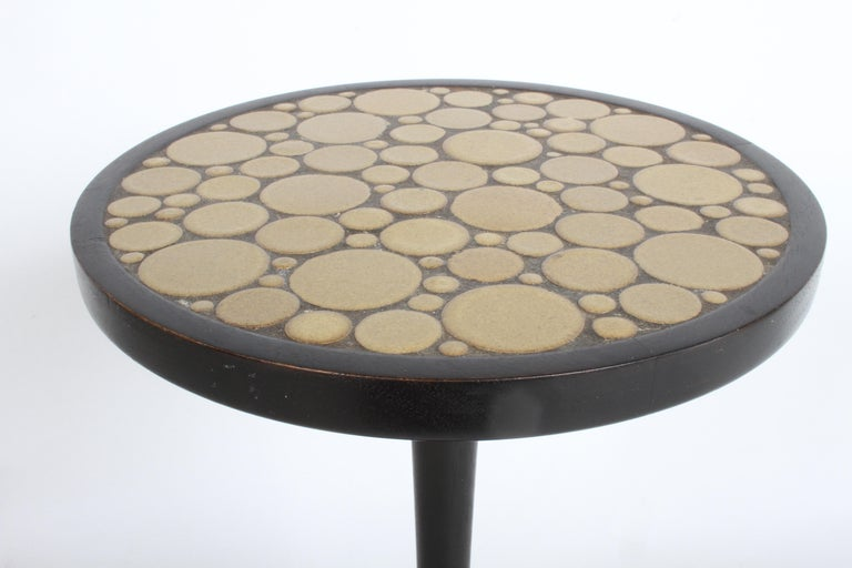 Gordon Martz Ceramic Tile Top Pedestal or Occasional Table  For Sale 4