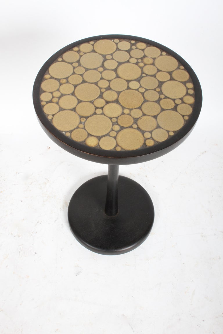 Gordon Martz Ceramic Tile Top Pedestal or Occasional Table  In Good Condition For Sale In St. Louis, MO