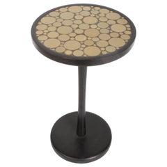 Gordon Martz Ceramic Tile Top Pedestal or Occasional Table