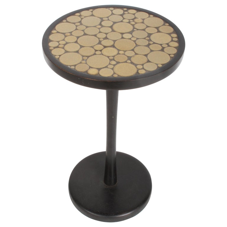 Gordon Martz Ceramic Tile Top Pedestal or Occasional Table  For Sale
