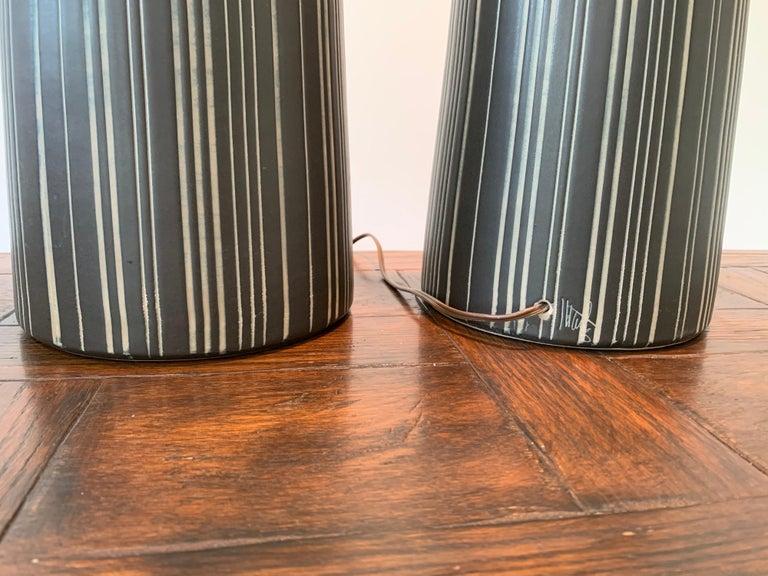 Mid-Century Modern Gordon Martz & Jane Marshall Martz Ceramic Table Lamps For Sale