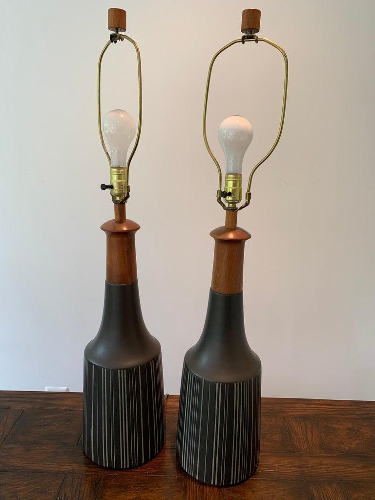 Mid-20th Century Gordon Martz & Jane Marshall Martz Ceramic Table Lamps For Sale