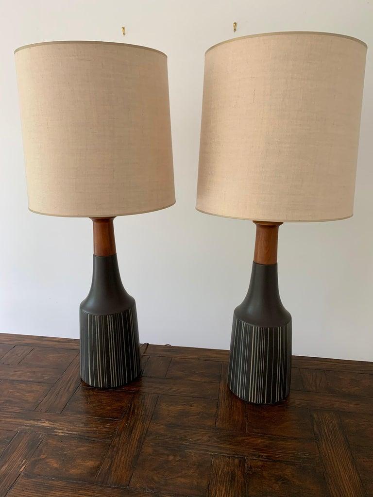 Gordon Martz & Jane Marshall Martz Ceramic Table Lamps For Sale 2