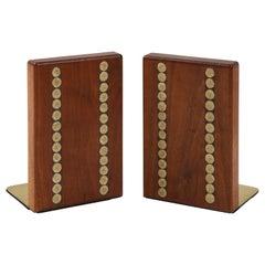 Gordon Martz Walnut, Ceramic Bookends