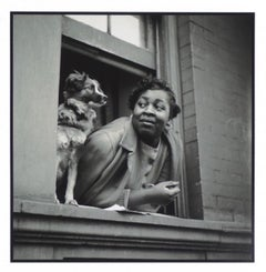 Woman and Dog in Window, Harlem from the Rede Leonardo Portfolio