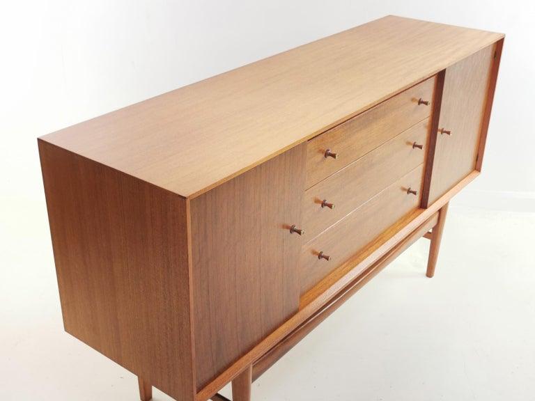 Mid-Century Modern Gordon Russell Indian Laurel Teak Midcentury Sideboard, 1960s