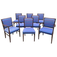 Gordon Russell Rosewood Dining Chairs Set of 8 Martin Hall Marwood Range, 1970s