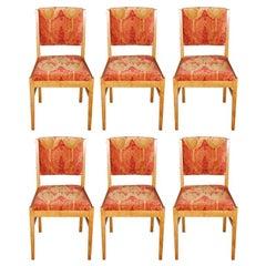 Gordon Russell set of six oak chairs, England circa 1949