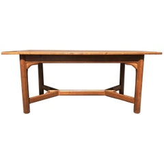 Gordon Russell, Arts & Crafts Cotswold School Oak Hayrake Stretcher Dining Table