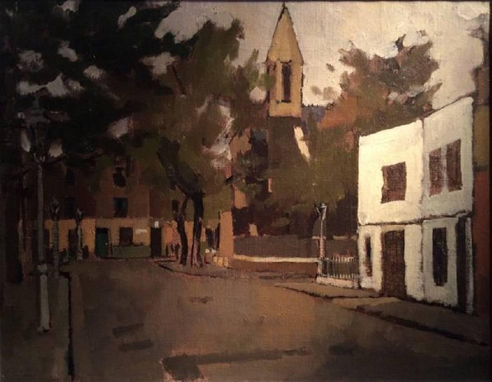 St Luke's, Chelsea, 20th Century Urban Oil