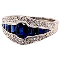 Gorgeous 1.37 Carat Platinum Sapphire Ring