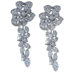 Gorgeous 16 Carat Diamond Day and Night Dangle Earrings