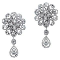 Gorgeous 18 Karat Gold and Diamonds Wedding Earring