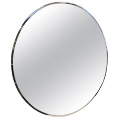 Gorgeous 1920s French Circular Art Deco Wall Mirror