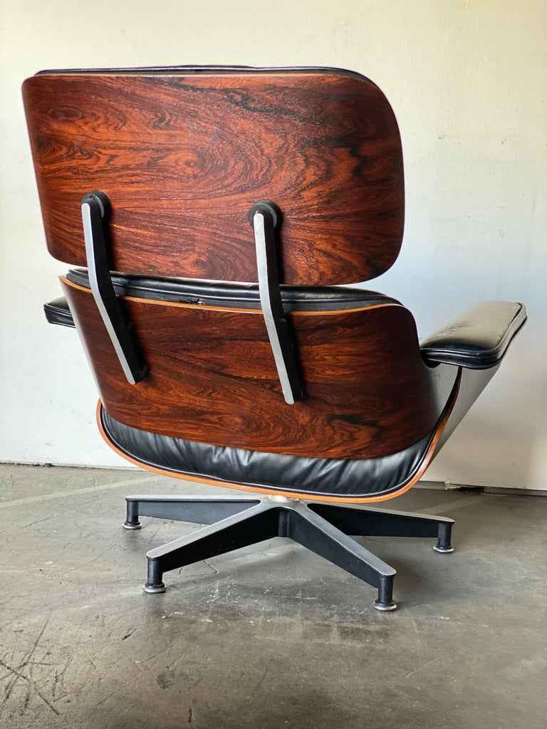 Leather Gorgeous 1960s Herman Miller Eames Lounge Chair and Ottoman